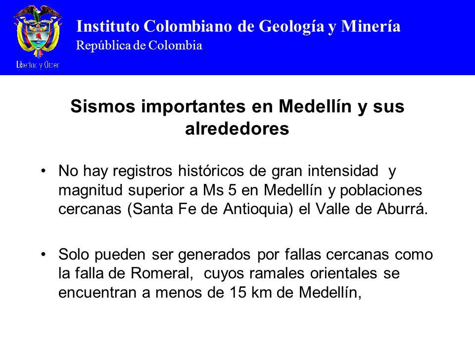 Sismos importantes en Medellín y sus alrededores