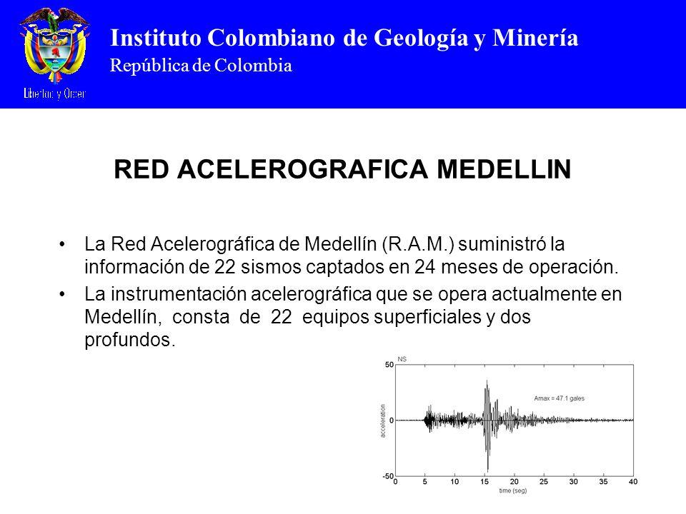 RED ACELEROGRAFICA MEDELLIN