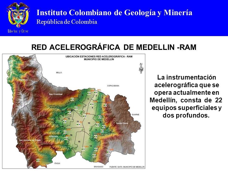 RED ACELEROGRÁFICA DE MEDELLIN -RAM