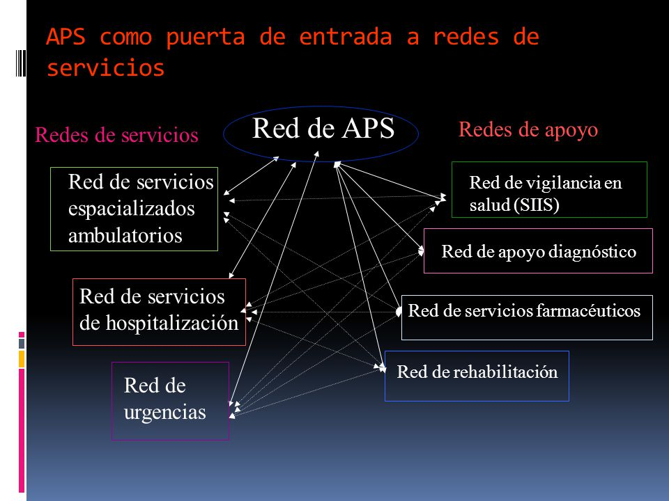 APS como puerta de entrada a redes de servicios
