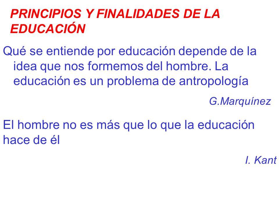 PRINCIPIOS Y FINALIDADES DE LA EDUCACIÓN