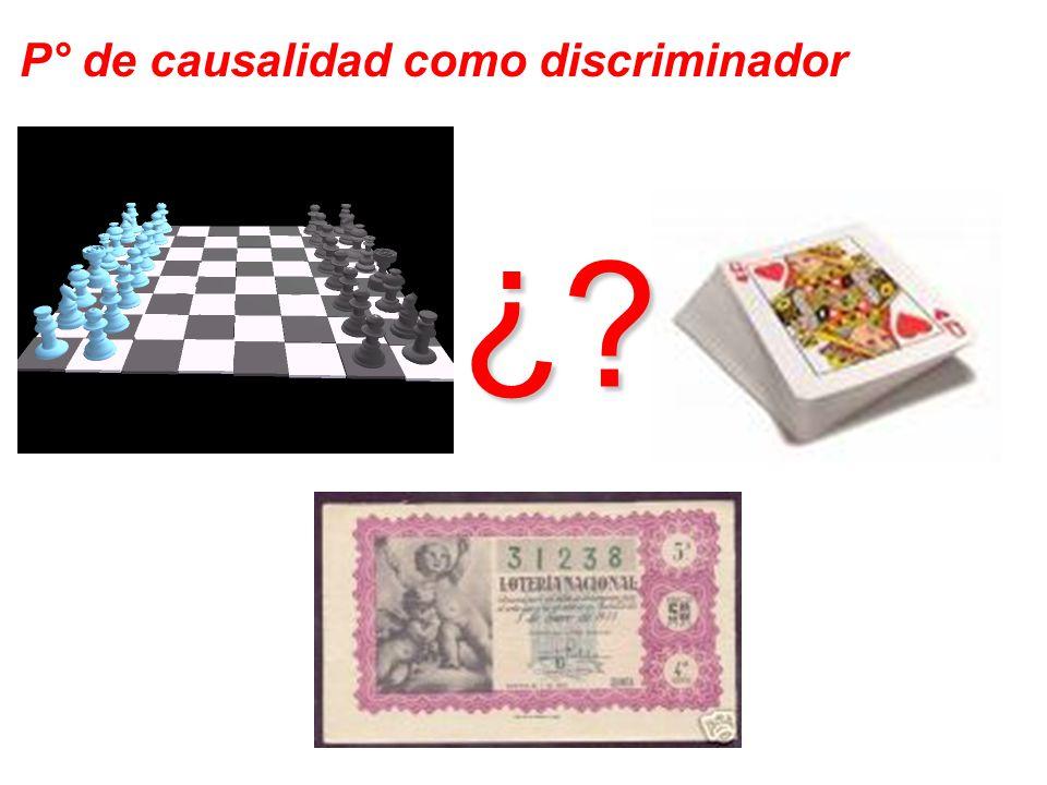 P° de causalidad como discriminador