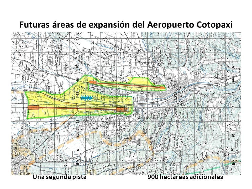 Futuras áreas de expansión del Aeropuerto Cotopaxi