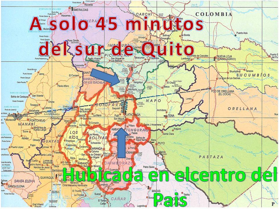 A solo 45 minutos del sur de Quito Hubicada en elcentro del