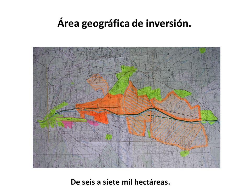 Área geográfica de inversión.