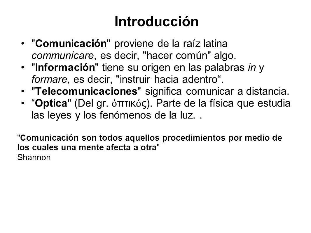 Introducción Comunicación proviene de la raíz latina communicare, es decir, hacer común algo.