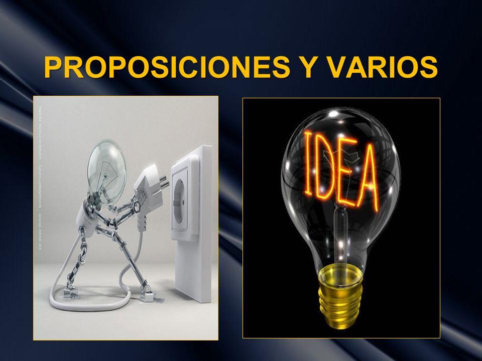 PROPOSICIONES Y VARIOS