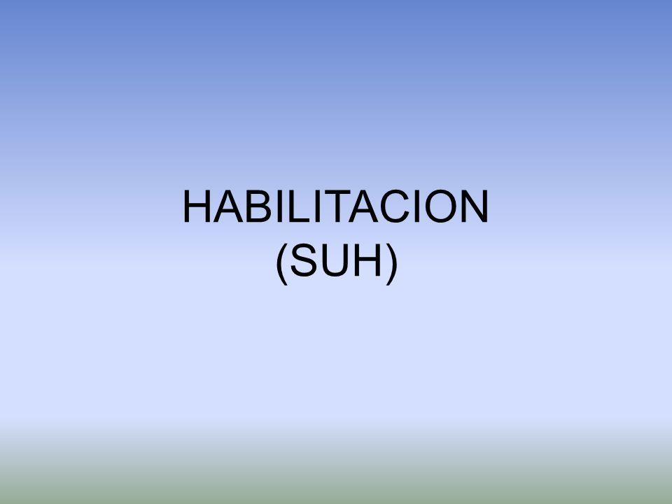 HABILITACION (SUH)