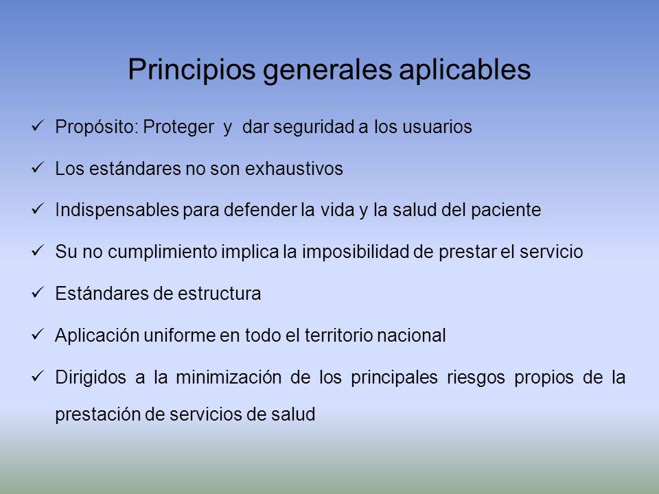 Principios generales aplicables