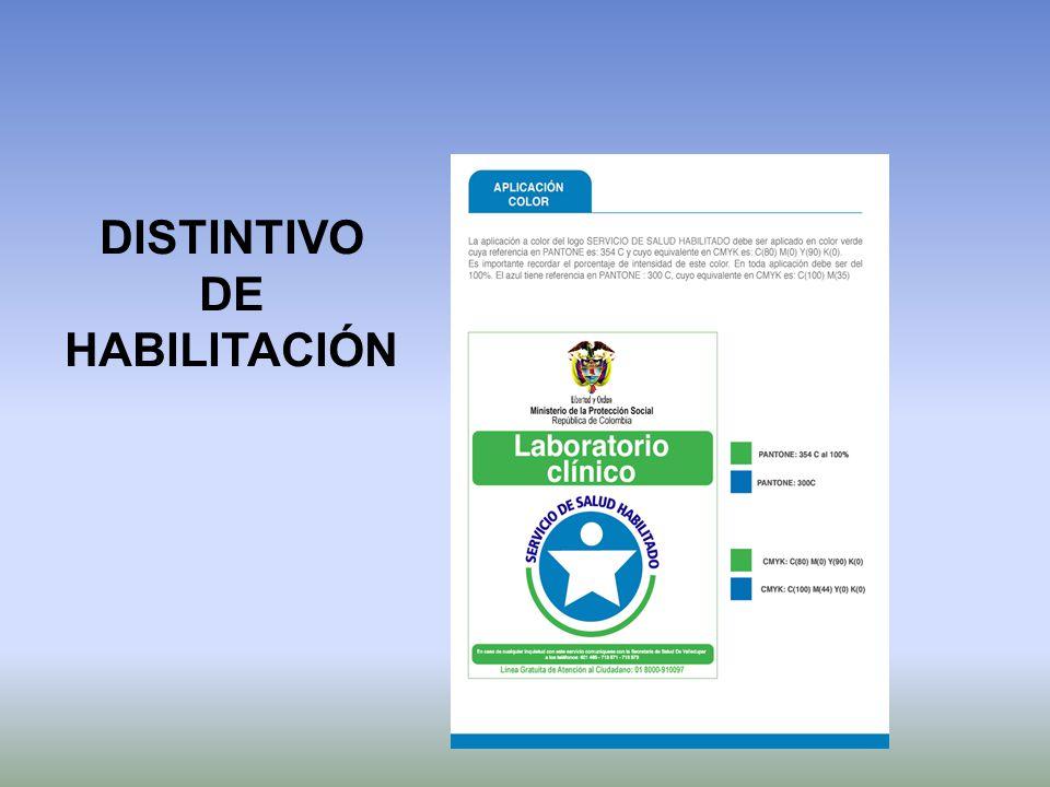 DISTINTIVO DE HABILITACIÓN