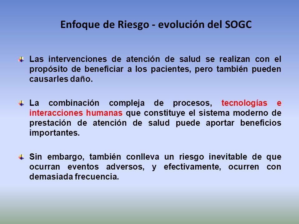 Enfoque de Riesgo - evolución del SOGC