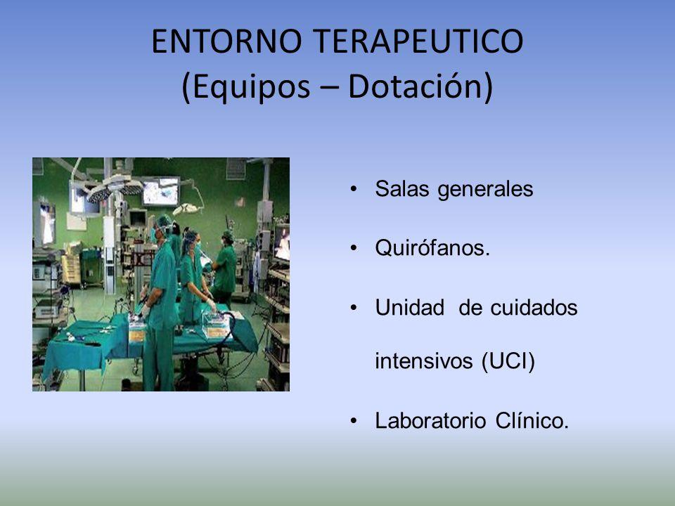 ENTORNO TERAPEUTICO (Equipos – Dotación)