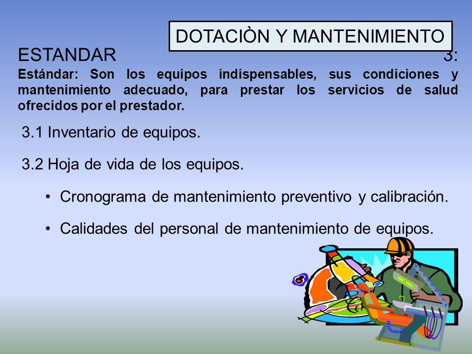 DOTACIÒN Y MANTENIMIENTO