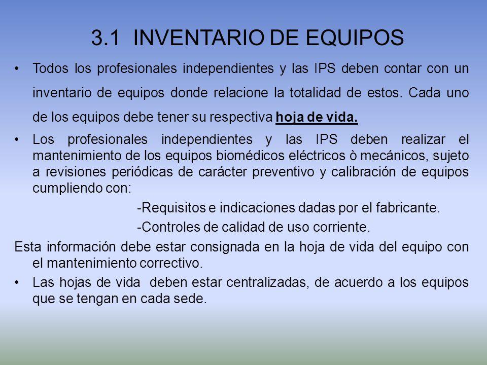 3.1 INVENTARIO DE EQUIPOS