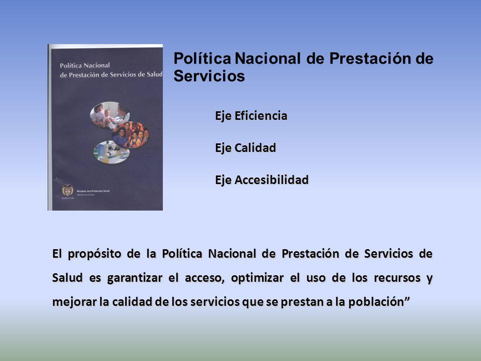 Política Nacional de Prestación de Servicios