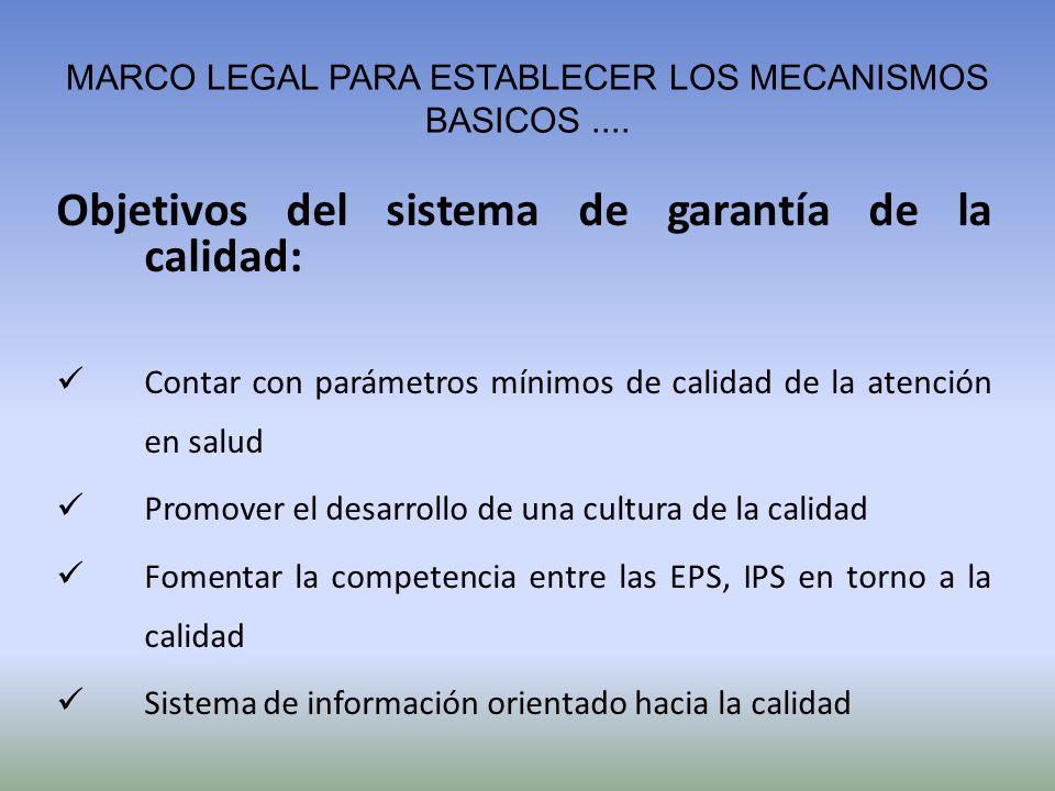 MARCO LEGAL PARA ESTABLECER LOS MECANISMOS BASICOS ....