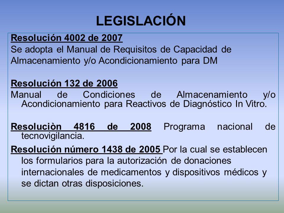LEGISLACIÓN Resolución 4002 de 2007