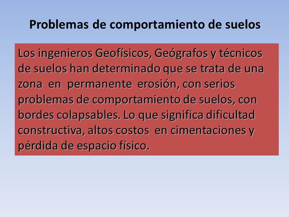 Problemas de comportamiento de suelos