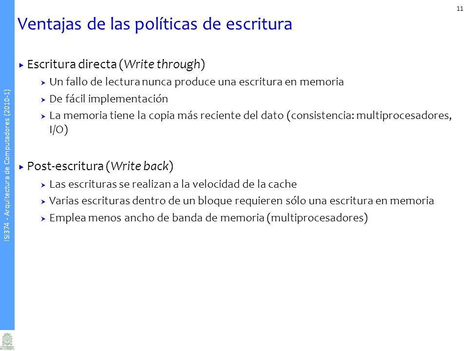 Ventajas de las políticas de escritura