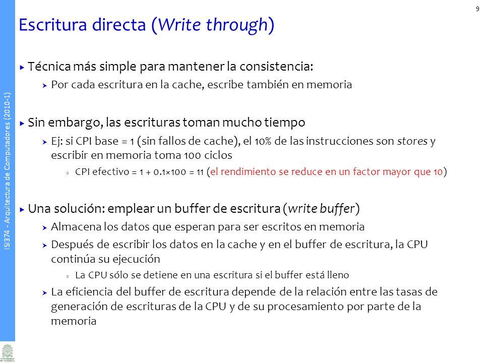 Escritura directa (Write through)