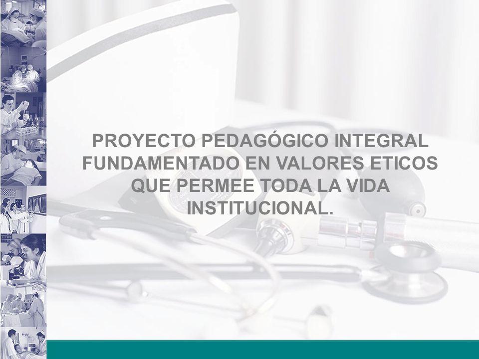 PROYECTO PEDAGÓGICO INTEGRAL FUNDAMENTADO EN VALORES ETICOS QUE PERMEE TODA LA VIDA INSTITUCIONAL.