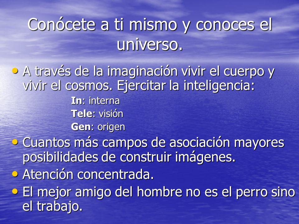 Conócete a ti mismo y conoces el universo.
