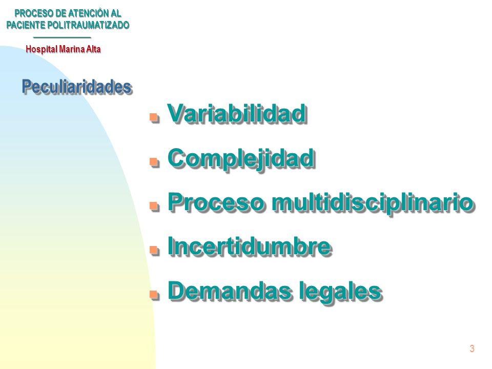 Proceso multidisciplinario Incertidumbre Demandas legales