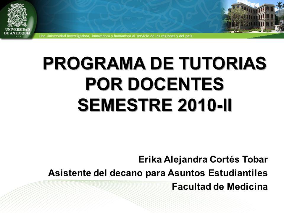 PROGRAMA DE TUTORIAS POR DOCENTES