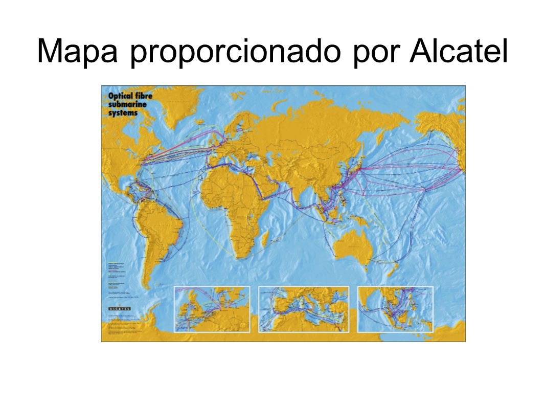 Mapa proporcionado por Alcatel