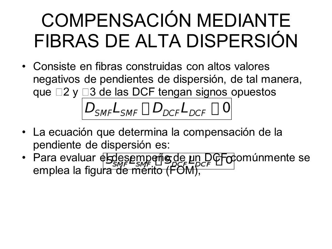 COMPENSACIÓN MEDIANTE FIBRAS DE ALTA DISPERSIÓN
