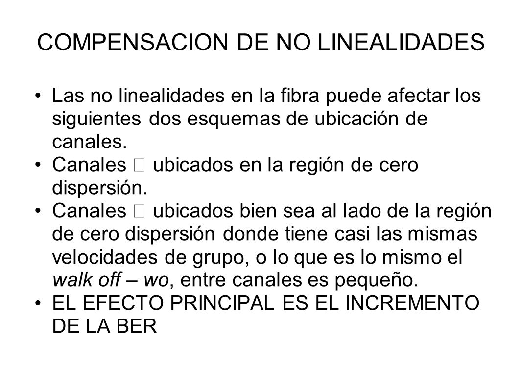 COMPENSACION DE NO LINEALIDADES