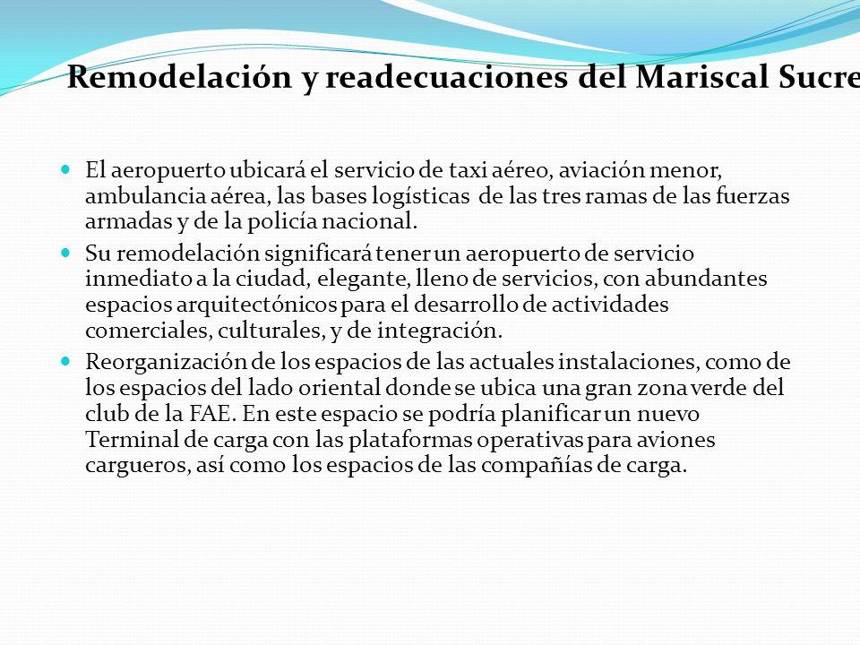 Remodelación y readecuaciones del Mariscal Sucre