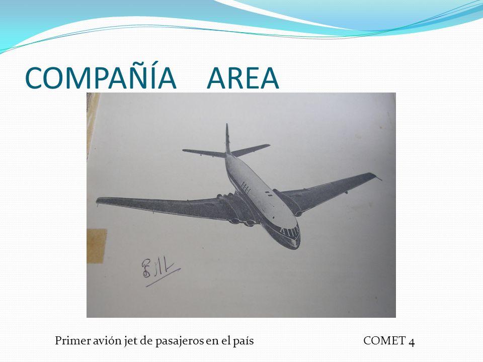 COMPAÑÍA AREA Primer avión jet de pasajeros en el país COMET 4