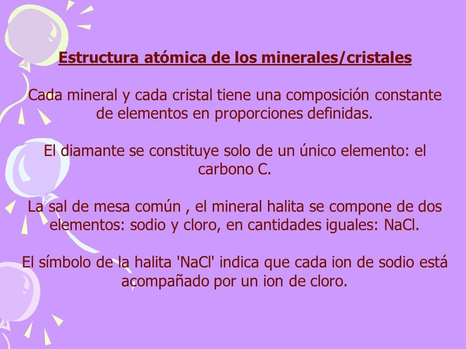 Estructura atómica de los minerales/cristales
