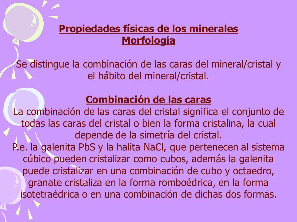 Propiedades físicas de los minerales Morfología