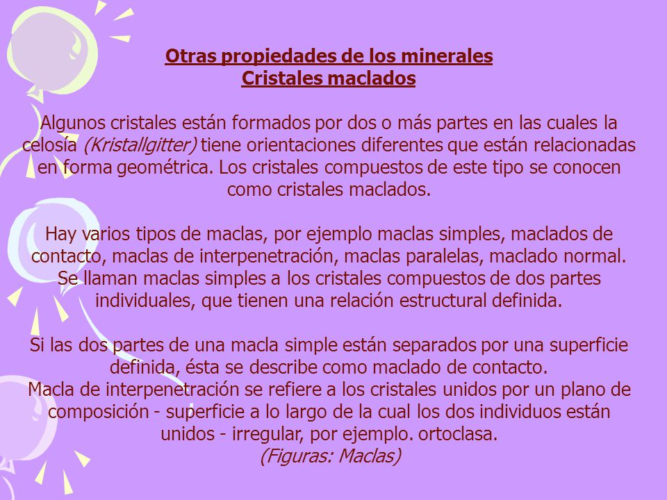 Otras propiedades de los minerales