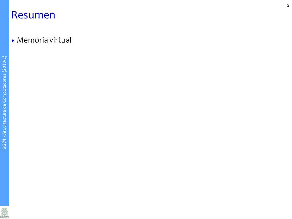 Resumen Memoria virtual
