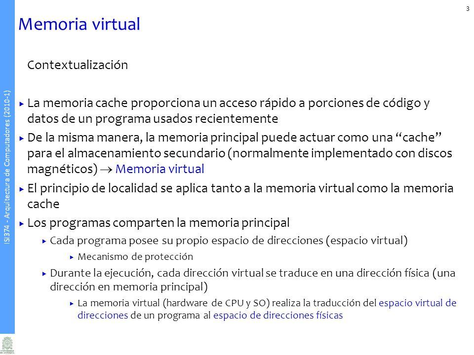 Memoria virtual Contextualización