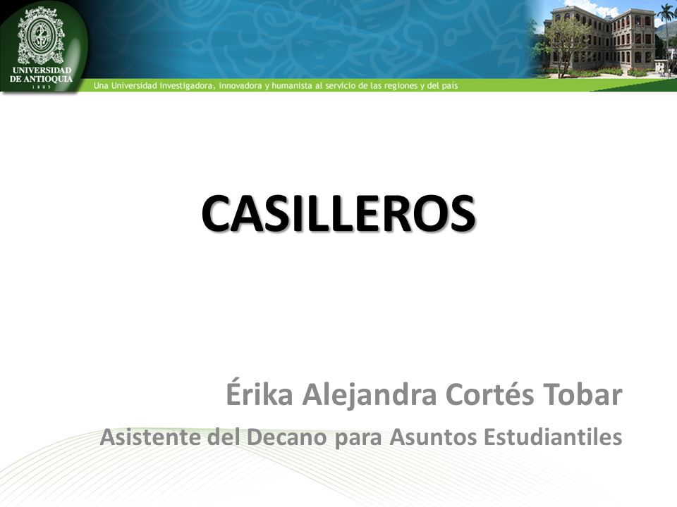 CASILLEROS Érika Alejandra Cortés Tobar