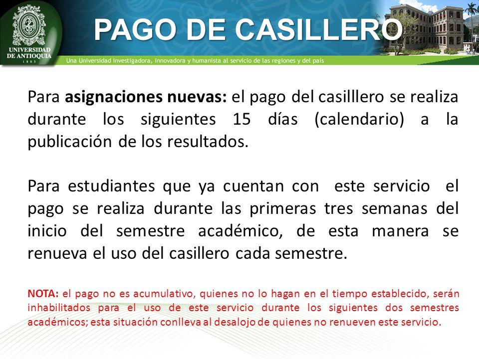 PAGO DE CASILLERO
