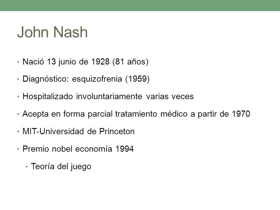 John Nash Nació 13 junio de 1928 (81 años)