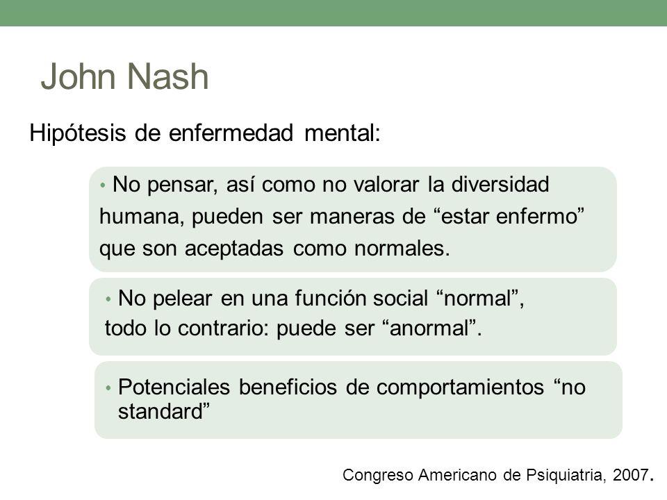 John Nash Hipótesis de enfermedad mental: