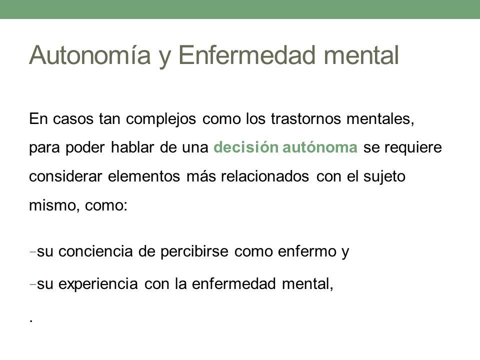 Autonomía y Enfermedad mental