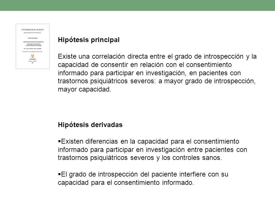 Hipótesis principal