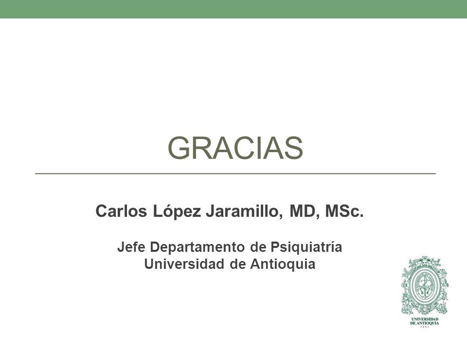 Carlos López Jaramillo, MD, MSc. Jefe Departamento de Psiquiatría