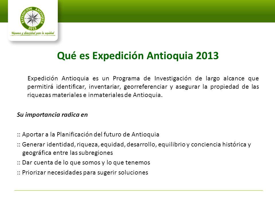 Qué es Expedición Antioquia 2013