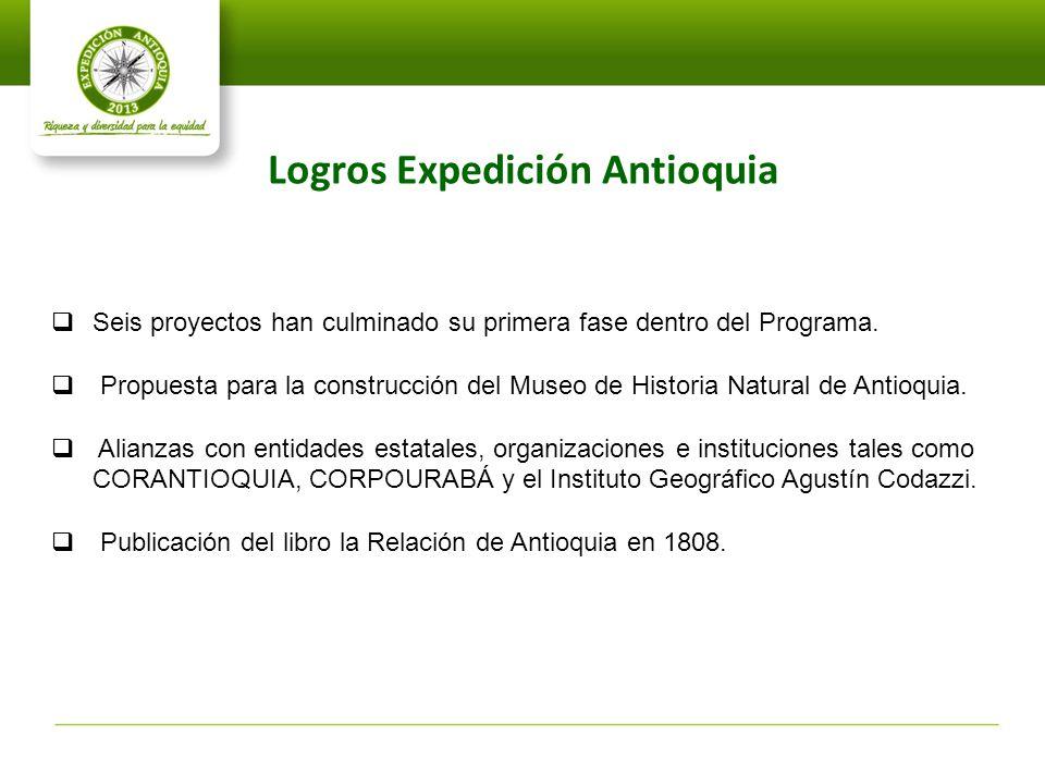 Logros Expedición Antioquia
