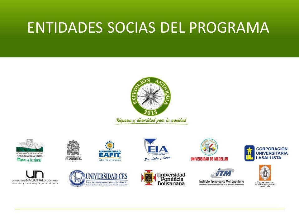 ENTIDADES SOCIAS DEL PROGRAMA
