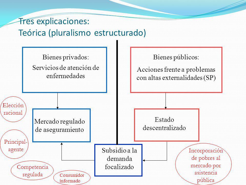 Tres explicaciones: Teórica (pluralismo estructurado)