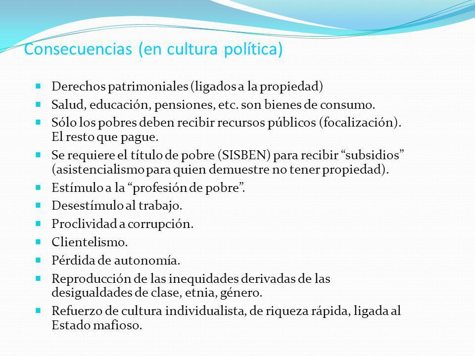 Consecuencias (en cultura política)